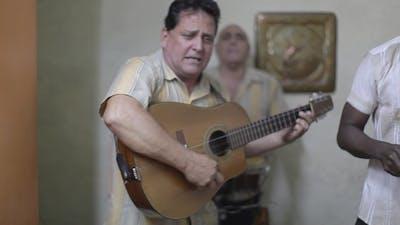 Cuban Band Playing Music Havana Cuba 27