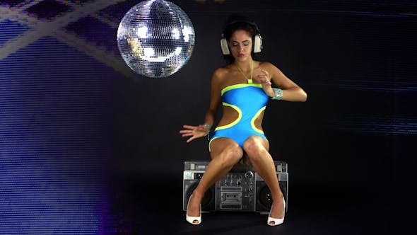 Thumbnail for Beautiful Gogo Dancer In A Sexy Blue Costume 1