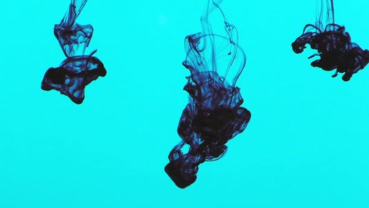 Thumbnail for Colorful Paint Ink Drops Splash in Underwater 11