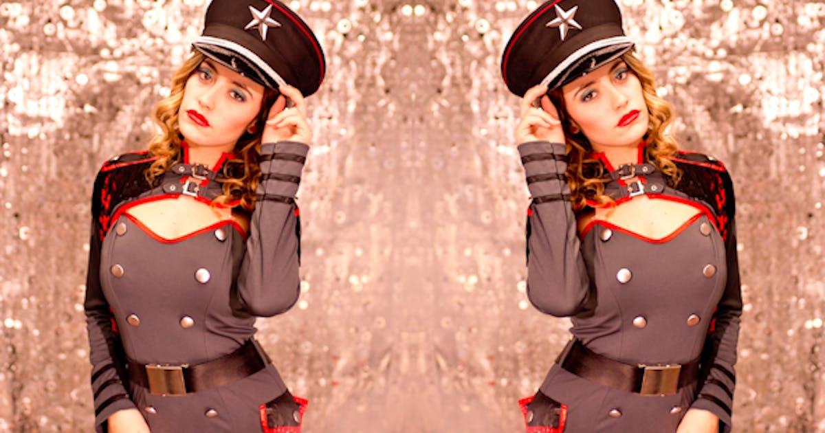 Sexy Female Military Burlesque Dancer 11