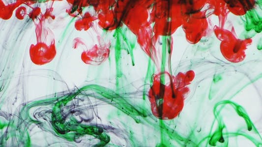 Thumbnail for Colorful Paint Ink Drops Splash in Underwater 21