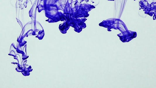 Cover Image for Colorful Paint Ink Drops Splash in Underwater 32