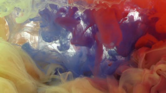Thumbnail for Colorful Paint Ink Drops Splash in Underwater 36