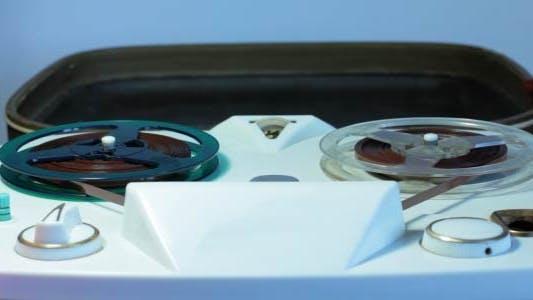Old Reel-To-Reel Tape Recorder
