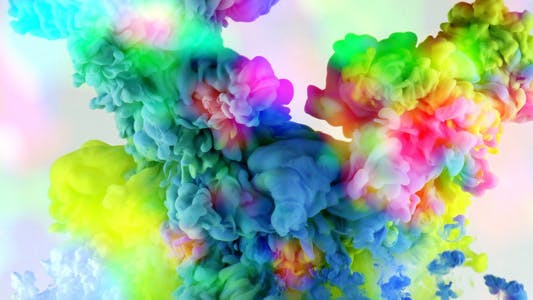 Thumbnail for Colorful Paint Ink Drops Splash in Underwater 45
