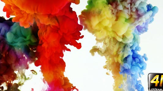 Thumbnail for Colorful Paint Ink Drops Splash in Underwater 48
