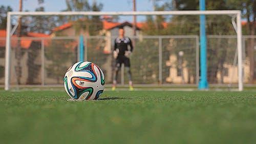 Soccer Goalkeeper Returns the Ball