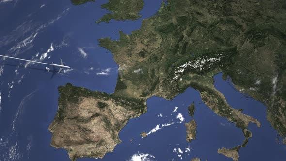 Kommerziell Flugzeug Fliegen nach Turin Italien