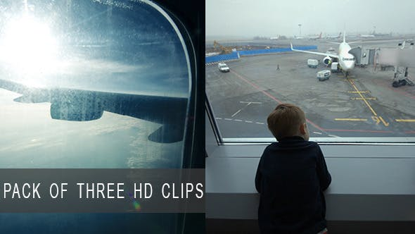 Thumbnail for Boy at Airport and in Airplane