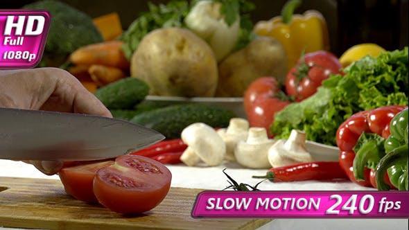 Thumbnail for Knife Cutting Tomato