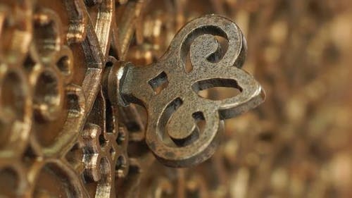 Bronze Casket with the Key in the Keyhole
