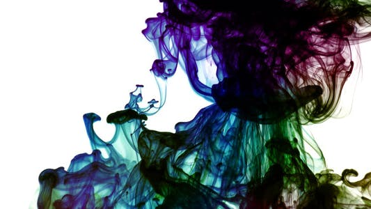 Thumbnail for Colorful Paint Ink Drops Splash in Underwater 57