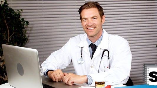 Thumbnail for Doctor In Office Smiling
