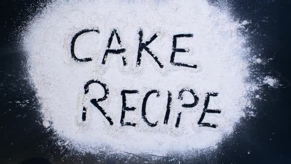 Thumbnail for Flour Writing Cake Recipe