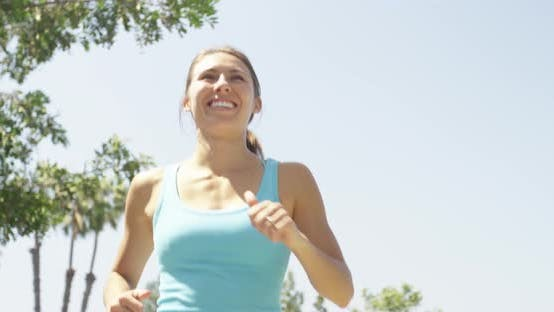 Thumbnail for Healthy woman athlete running