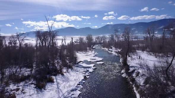 Thumbnail for River or Stream Dayton in Winter in Wyoming United States