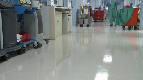 Thumbnail for Low Angle Of Hospital Hallway (1 Of 2)