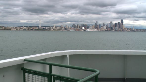 Thumbnail for Ferry Sails Into Seattle