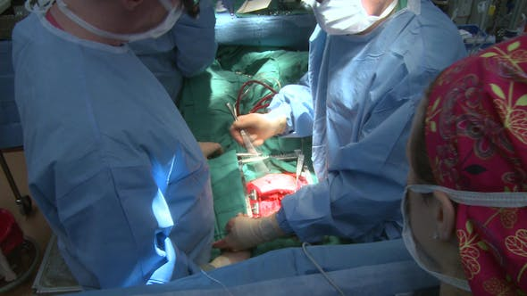 Thumbnail for Doctors Converse During Surgery