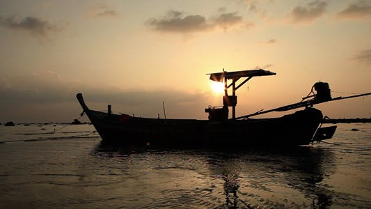 Thumbnail for Thailand Boat At Sunset