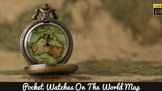 Cover Image for Pocket Watches On The World Map 7