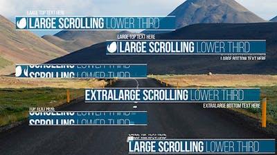 Scrolling Lower Third