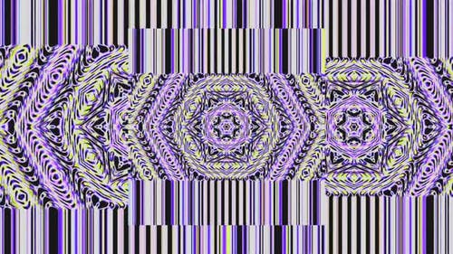 Abstract moving graphic background purple. For show, animated beautiful bright Ornaments