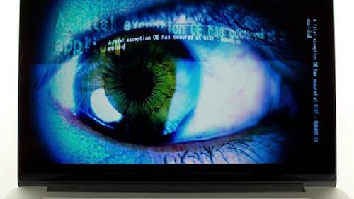 Eye Laptop Screensaver Computer