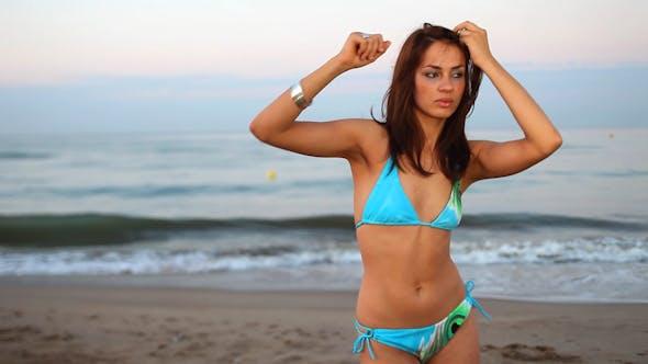 Thumbnail for Beautiful Woman Beach Sea Fun 31