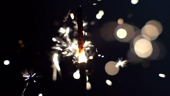 Thumbnail for Sparkler Being Ignited 2