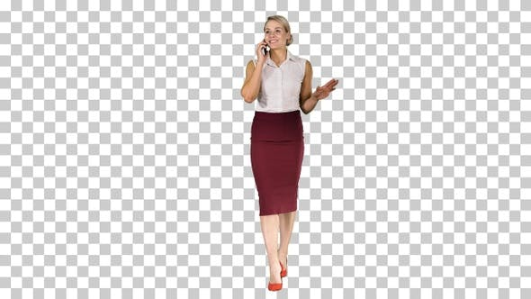 Thumbnail for Young businesswoman worker talking on smartphone and smiling