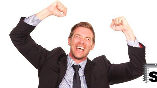 Businessman Excited