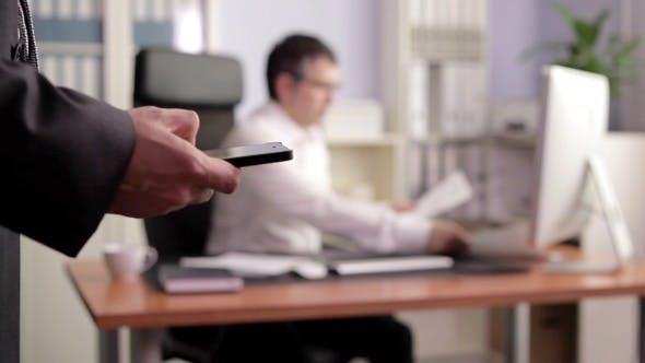 Thumbnail for Businessman Sending Sms