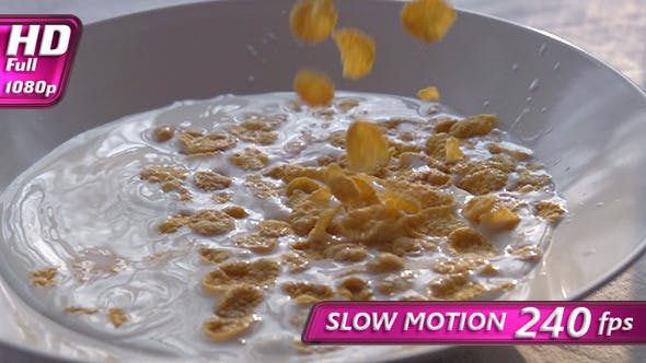 Thumbnail for Corn Flakes Pouring Milk