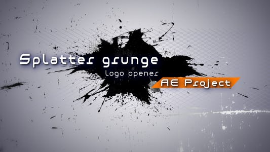 Thumbnail for Splatter grunge - Logo opener AE project