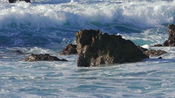 Thumbnail for Waves Crashing on Stone Beach