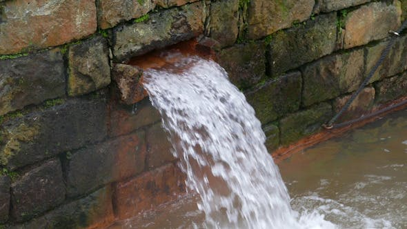 Thumbnail for Hot Spring Water Flow from Pipe on Wall