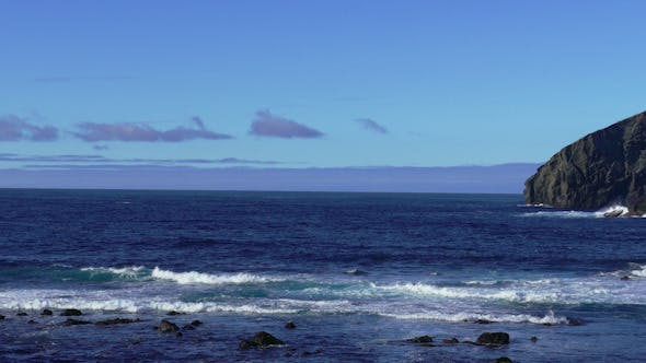 Thumbnail for Waves Atlantic Ocean Breaking onto Rocks