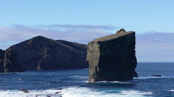 Thumbnail for Waves Atlantic Ocean Breaking onto High Rocks