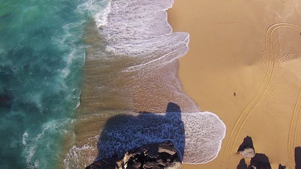 Thumbnail for Waves Crashing on Beach, Aerial View