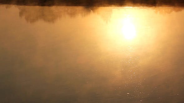 Thumbnail for Sunrise Reflection In The River With Mist