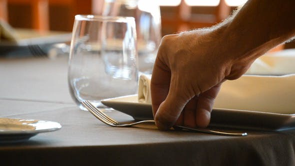 Putting a Fork in a Restaurant Table