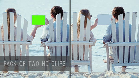 Thumbnail for Couple on Beach with Pad
