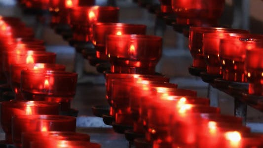 Thumbnail for Wish Praying Red Candles in Church 2