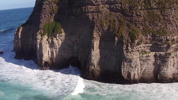 Cover Image for Flying over the High Cliffs and Ocean Waves