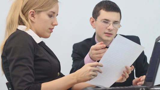 Business People Working with Securities