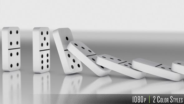 Thumbnail for Dominoes Falling Down in a Row
