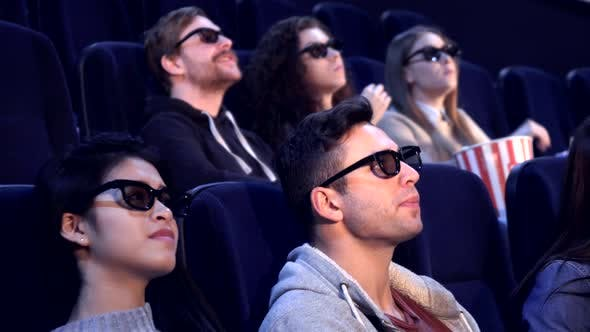 Thumbnail for People Watch 3D Film at the Movie Theater