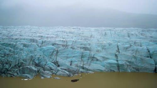 Svinafellsjokull Glacier in Vatnajokull Iceland