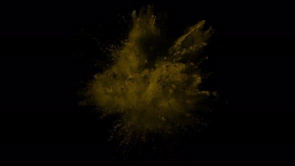 Orange Powder Explosion